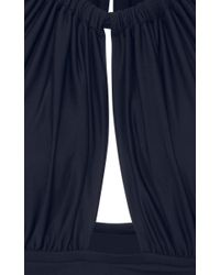 Lenny Niemeyer - Blue Ruched Halterneck Swimsuit - Lyst