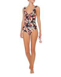 Tori Praver Swimwear | Red Victoria V-neck One Piece | Lyst