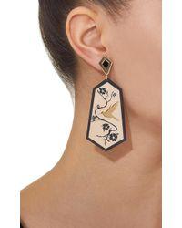 Anna E Alex - Metallic Fiori Di Ciliegio Earrings - Lyst