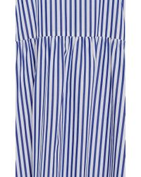 Mds Stripes - Blue Cape Stripe Maxi Dress - Lyst