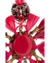 Ranjana Khan - Black Red Fan Earrings - Lyst