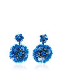 Ranjana Khan - Blue Drop Flower Fan Earrings - Lyst
