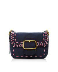 474b75a3925e Lyst - Tory Burch Sawyer Stitch Shoulder Bag in Blue