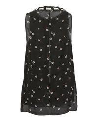 Proenza Schouler - Black Sleeveless Tie Neck Silk Top - Lyst