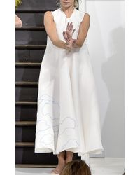 Maison Rabih Kayrouz - White Embroidered Cloud Tent Dress - Lyst