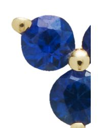 EF Collection - Metallic Blue Sapphire Trio Stud - Lyst