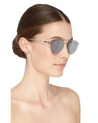 Mykita - Metallic Silver Aviator Sunglasses - Lyst