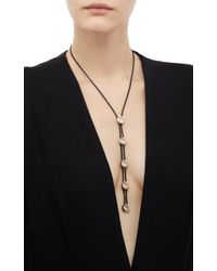Antonini - Metallic Atolli Cord Necklace In Yellow Gold - Lyst
