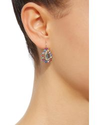She Bee - Multicolor Rhodium-plated Rainbow Sapphire And Topaz Earrings - Lyst