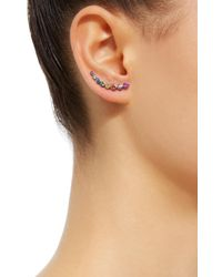 She Bee - Multicolor Rhodium-plated Sapphire Earrings - Lyst