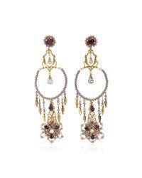 Erickson Beamon | Metallic Wild Flower Chandelier Crystal Earrings | Lyst