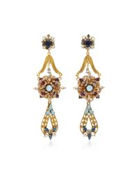 Erickson Beamon - Metallic Wild Flower Crystal Drop Earrings - Lyst