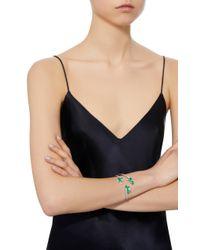 Hueb - Green Mirage 18k White Gold, Diamond And Emerald Cuff - Lyst