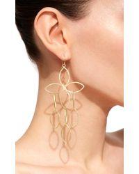 LFrank Lingerie - Metallic Open Marquis Flower Cluster Earrings - Lyst