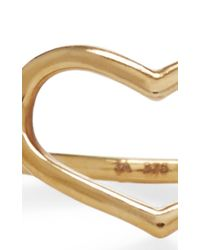 Jordan Askill - Metallic Yellow Gold Delicate Heart Ring - Lyst