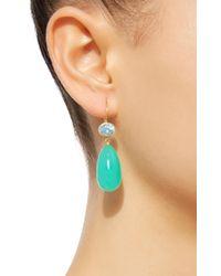 Mallary Marks - Green Apple & Eve Blue Paraiba Earrings - Lyst