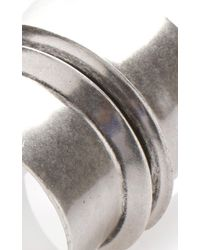Etro - Metallic Metal Bangle With Central Raise - Lyst