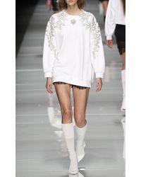 Francesco Scognamiglio - White Jeweled Long Sleeve Top - Lyst