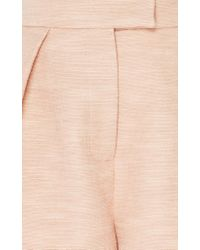Martin Grant - Pink Pleated Tailored Short - Lyst