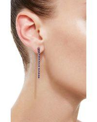 Claudia Oddi - Purple Amethyst Bar Earrings - Lyst