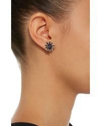 Jack Vartanian - Blue Gala 18k White Gold And Black Rhodium Sapphire Earrings - Lyst