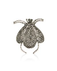 Dice Kayek | White Beetle Brooch | Lyst
