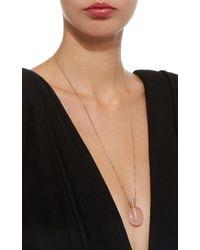 Jacquie Aiche - Pink Large Round Rose Quartz Potion Bottle Necklace - Lyst