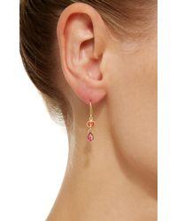 Mallary Marks - Orange Apple&eve Sapphire Earrings - Lyst