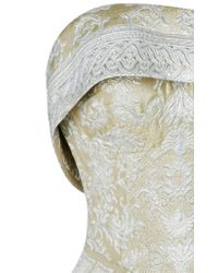 Maison Yeya - Metallic Hypathia Strapless Fitted Gown - Lyst