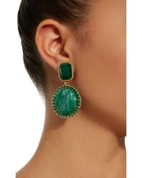 Lulu Frost | Green M'o Exclusive Vintage Marbled Glass Earrings | Lyst