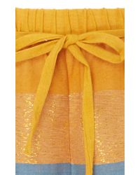 A Peace Treaty - Metallic Tomar Striped Shorts - Lyst