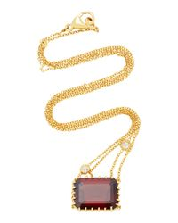 Renee Lewis | Red Antique Garnet And Diamond Necklace | Lyst