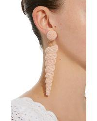 Rebecca de Ravenel - Large Twisty Pink Earrings - Lyst