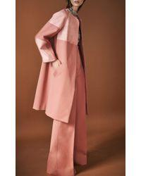 J. Mendel - Pink High Waisted Wide Leg Pant - Lyst