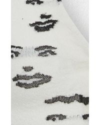 Missoni White Faces Jacquard Fitted Cardigan