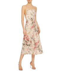 Zimmermann | Multicolor Mercer Floral-print Cotton-blend Dress | Lyst