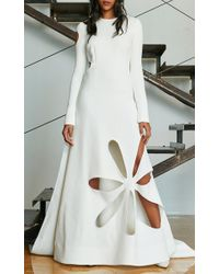 Rosie Assoulin - White Matisse Cut Out Gown - Lyst