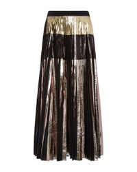 Proenza Schouler - Multicolor Metallic Foil Pleated Skirt - Lyst