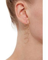 Beaufille - Metallic Spiral 14k Gold Drop Earrings - Lyst
