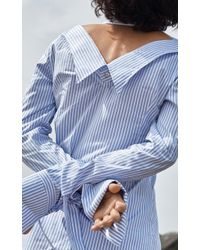 Tuinch - Blue Striped Button Down - Lyst