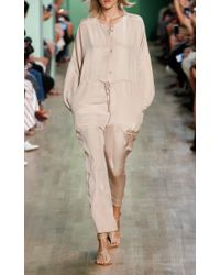 Tibi - Natural Silk Relaxed Jumpsuit - Lyst