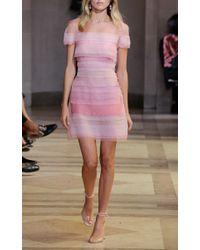 Carolina Herrera - Pink Tiered Panel Dress - Lyst