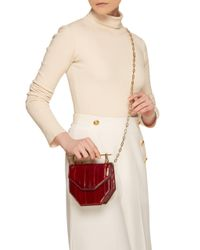 M2malletier - Red Mini Amor Fati Eelskin Shoulder Bag - - Lyst