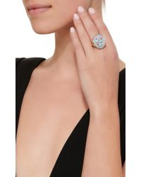 Holly Dyment - Blue Triple Flower Ring - Lyst