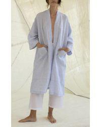 Loup Charmant - Blue Doha Linen Robe - Lyst