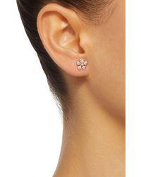 Colette - Pink Baby Flower 18k Rose Gold Diamond Earrings - Lyst