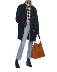 Tibi - Blue Oversized Plaid Coat - Lyst