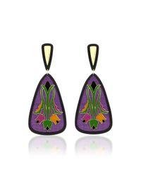 Anna E Alex - Purple Tulipani Deco Earrings - Lyst