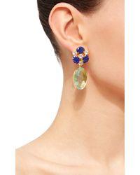 Bounkit - Blue Fluorite Drop Earrings - Lyst