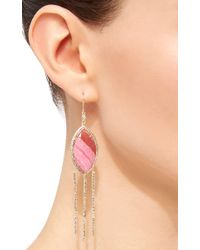 Jacquie Aiche - Metallic Marquise Rhodo Agate Earrings - Lyst